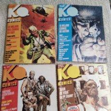 Cómics: K.O. COMICS , COLECCION COMPLETA 4 EJEMPLARES - ED. METROPOL , AÑO 1984. Lote 217729273