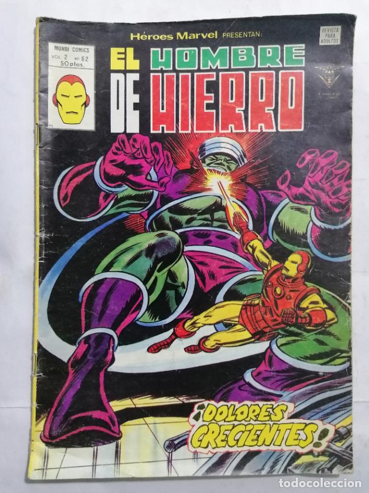 EL HOMBRE DE HIERRO, MUNDI COMICS VOL 2 - Nº 62 (Tebeos y Comics - Toutain - Otros)
