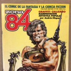 Cómics: ZONA 84 N° 35 (TOUTAIN EDITOR 1986). GRAFFITI CALLEJERO, HOWARD CHAYKIN, PEPE MORENO,.... Lote 221693546