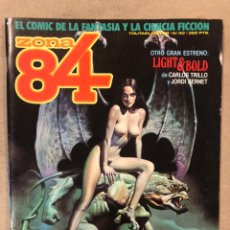 Cómics: ZONA 84 N° 40 (TOUTAIN EDITOR). LIGHT & BLOLD (CARLOS TRILLO Y JORDI BERNET), ELEUTERI SERPIERI,.... Lote 221694660