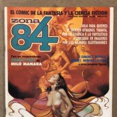 Cómics: ZONA 84 N° 45 (TOUTAIN EDITOR). MILO MANARA, J. GIMÉNEZ, SERPIERI, BERNET, MORENO CASARES,.... Lote 221697828