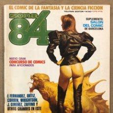 Cómics: ZONA 84 N° 50 (TOUTAIN EDITOR). EXTRA NÚMERO 50. F. FERNÁNDEZ, ORTIZ, CORBEN, ZAFFINO,.... Lote 221699588