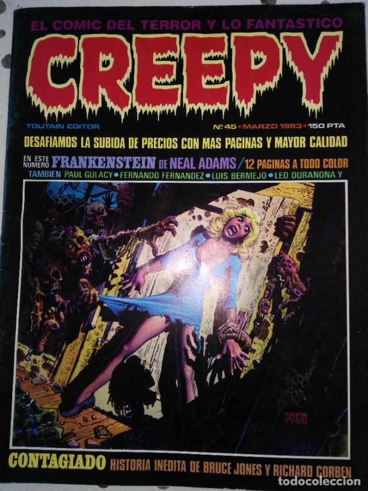 5 COMICS CREEPY (Tebeos y Comics - Toutain - Creepy)