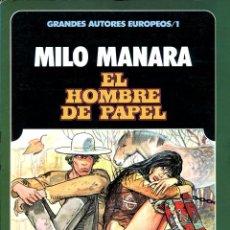 Cómics: EL HOMBRE DE PAPEL (GRANDES AUTORES EUROPEOS / NÚMERO 1) - TOUTAIN (MILO MANARA). Lote 221919820
