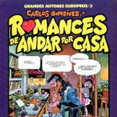 Cómics: ROMANCES DE ANDAR POR CASA (GRANDES AUTORES EUROPEOS / NÚMERO 3) - TOUTAIN (CARLOS GIMÉNEZ). Lote 221920472