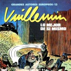 Cómics: LO MEJOR DE SÍ MISMO (GRANDES AUTORES EUROPEOS / NÚMERO 13) - TOUTAIN (VUILLEMIN). Lote 221922822