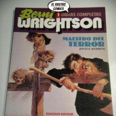 Cómics: BERNI WRIGHTSON, OBRAS COMPLETAS Nº 1, MAESTRO DEL TERROR, ED. TOUTAIN 1992. Lote 222403716
