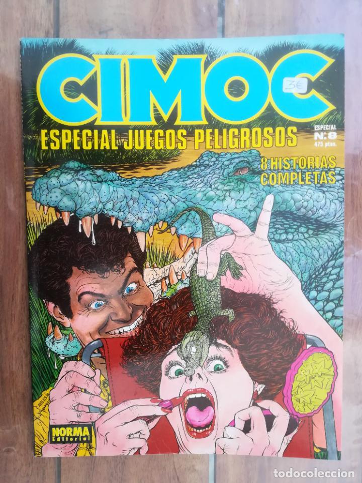 CIMOC. ESPECIAL JUEGOS PELIGROSOS. TOUTAIN (Tebeos y Comics - Toutain - 1984)