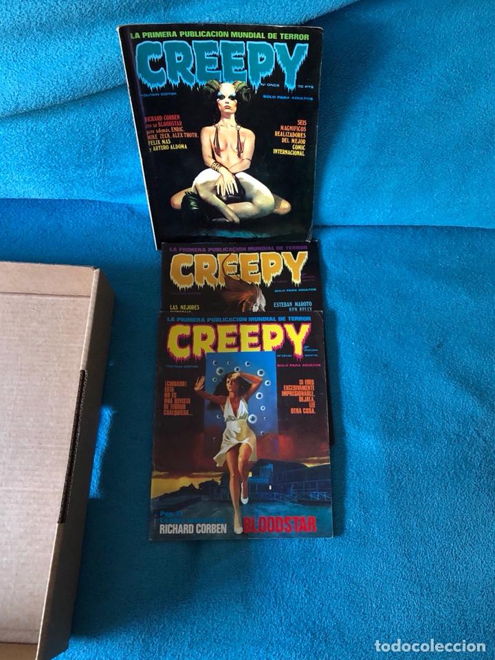 LOTE DE 3 REVISTAS CREEPY (Tebeos y Comics - Toutain - Creepy)