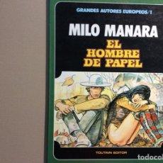 Cómics: MILO MANARA EL HOMBRE DE PAPEL. Lote 224339943