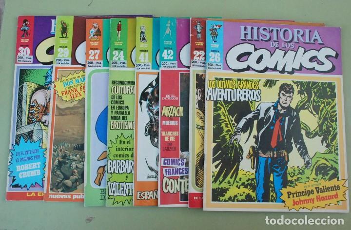 LOTE 17 HISTORIA DE LOS COMICS FASCICULOS - TOUTAIN EDITOR (Tebeos y Comics - Toutain - Otros)