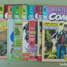 Cómics: LOTE 17 HISTORIA DE LOS COMICS FASCICULOS - TOUTAIN EDITOR. Lote 224360373