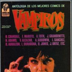 Cómics: ANTOLOGIA DE LOS MEJORES COMICS DE VAMPIROS - TOUTAIN EDITOR 1988 - PORTADA DE ENRIC - DIFICIL. Lote 224657216