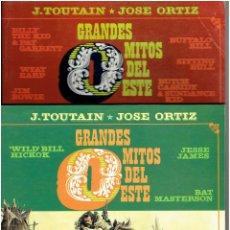 Fumetti: * GRANDES MITOS DEL OESTE * COMPLETA 2 TOMOS * JOSE ORTIZ * 1ª EDICIÓN TOUTAIN 1987 *. Lote 226903980