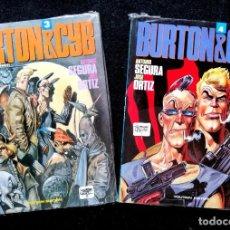 Fumetti: BURTON & CYB Nº 3 Y 4 (ANTONIO SEGURA - JOSÉ ORTIZ) TOUTAIN 1991 ''PRECINTADOS''. Lote 227646775