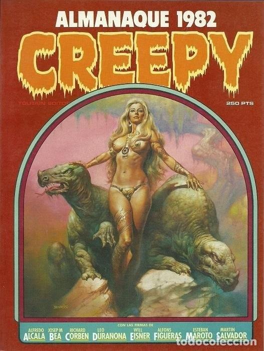 CREEPY ALMANAQUE 1982. TOUTAIN RUSTICA (Tebeos y Comics - Toutain - Álbumes)