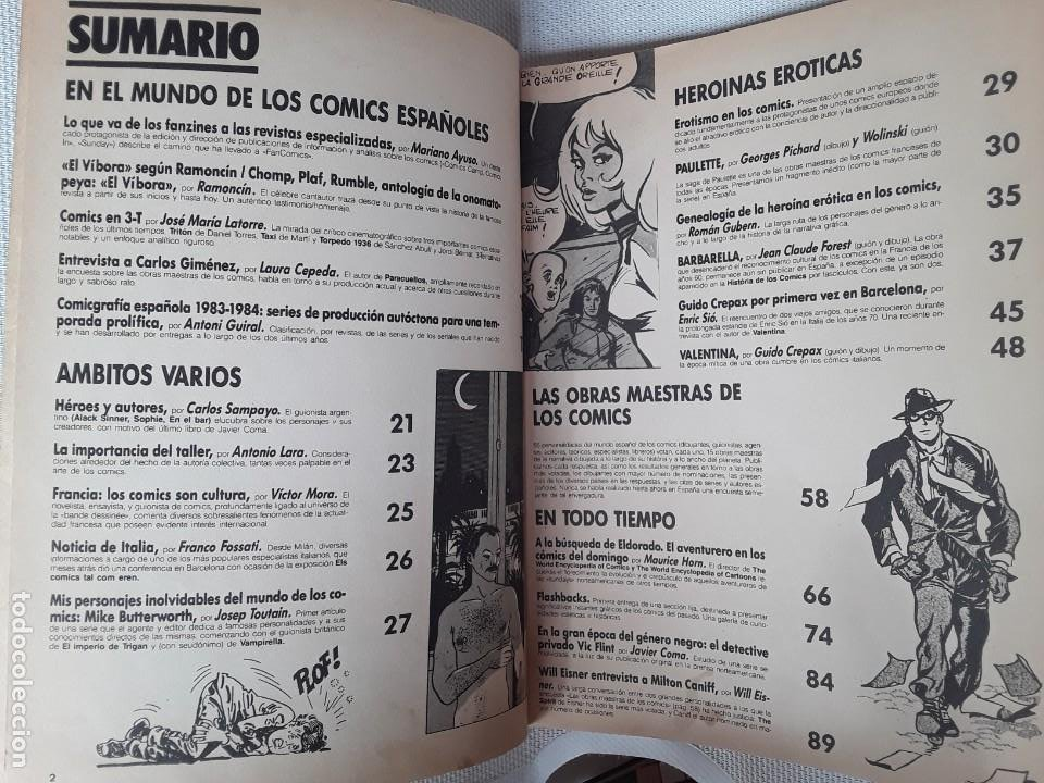 Cómics: Fan Comics 1 (1985) Román Gubern, Ramoncín, Carlos Giménez, Will Eisner, Milton Caniff - Foto 2 - 231161765