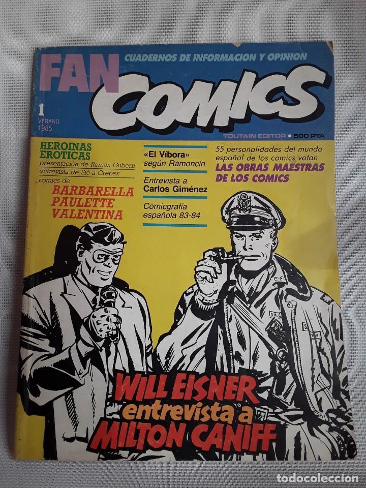 FAN COMICS 1 (1985) ROMÁN GUBERN, RAMONCÍN, CARLOS GIMÉNEZ, WILL EISNER, MILTON CANIFF (Tebeos y Comics - Toutain - Otros)