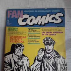 Cómics: FAN COMICS 1 (1985) ROMÁN GUBERN, RAMONCÍN, CARLOS GIMÉNEZ, WILL EISNER, MILTON CANIFF. Lote 231161765