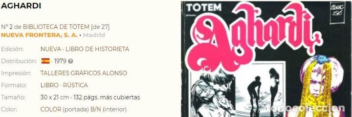Cómics: TOTEM BIBLIOTECA nº 2 - AGHARDI - Enric Sio - Ed NUEVA FRONTERA año 1979- Muy buen estado - Foto 2 - 167920462