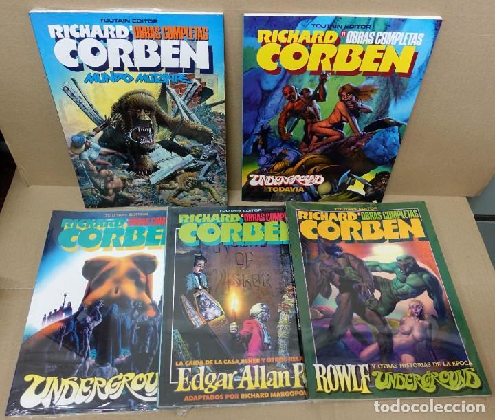 OBRAS COMPLETAS DE RICHARD CORBEN.LOTE DE 5 NÚMEROS.- 3,4,6,8 Y 11.TOUTAIN.NUEVOS. (Tebeos y Comics - Toutain - Obras Completas)