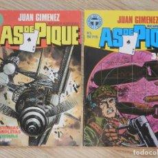 Cómics: LOTE 2 JUAN GIMENEZ AS DE PIQUE Nº 2 Y 5 TOUTAIN RICARDO BARREIRO AÑO 1988. Lote 232793600