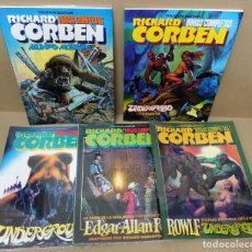 Comics: OBRAS COMPLETAS DE RICHARD CORBEN.LOTE DE 5 NÚMEROS.- 3,4,6,8 Y 11.TOUTAIN.NUEVOS.. Lote 233127905