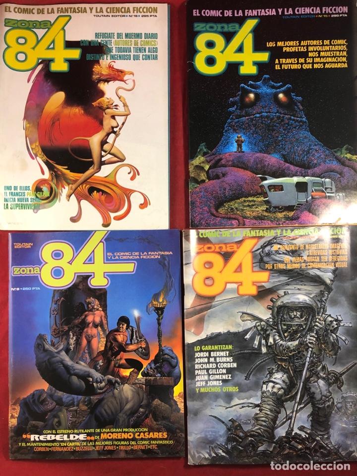 4 NÚMEROS DE ZONA 84 (Tebeos y Comics - Toutain - Zona 84)