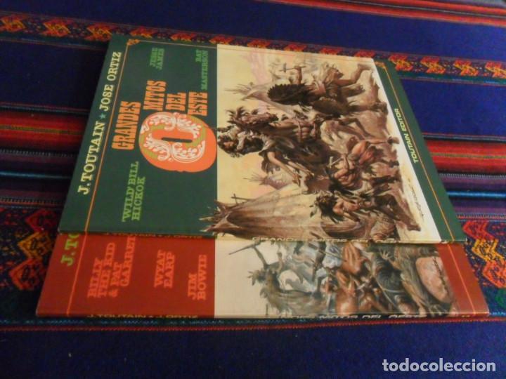 Cómics: GRANDES MITOS DEL OESTE NºS 1 Y 2 COMPLETA. TOUTAIN EDITOR 1987. BUEN ESTADO EN RÚSTICA. - Foto 3 - 235020235