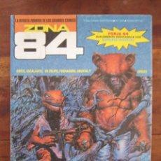 Cómics: ZONA 84 Nº 86. ORTIZ, ESCALANTE, DE FELIPE, FERNANDO, BROCAL, ETC, TOUTAIN EDITOR 1984. Lote 235420820