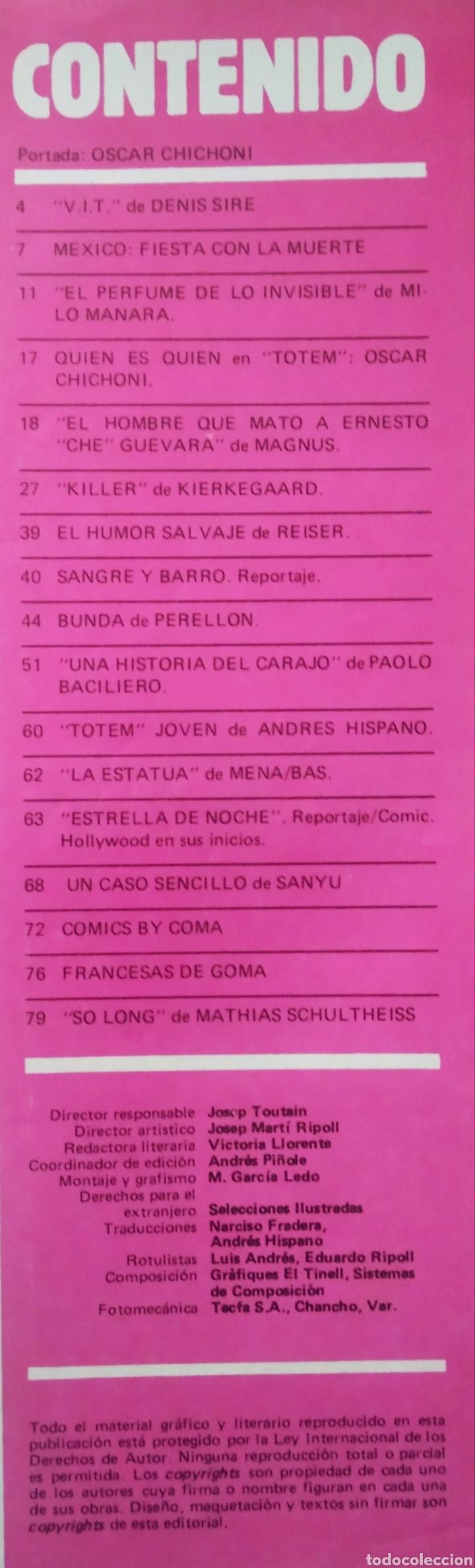 Cómics: Tótem El Cómix Nueva Época n°4 (Toutain, 1987). 84 páginas a color y B/N. - Foto 2 - 236393845