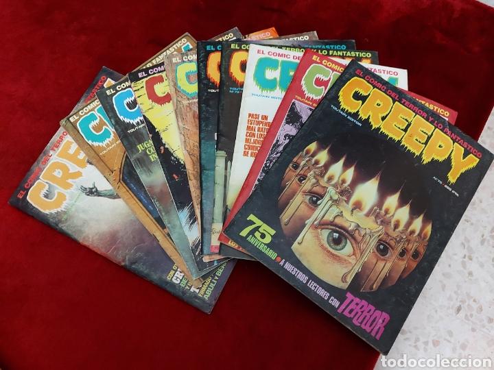 CREEPY 1°EP0CA LOTE DE 10 NUMEROS:52,53,66,68,69,71,73,74,75 Y 76, COMIC DEL TERROR Y LO FANTASTICO (Tebeos y Comics - Toutain - Creepy)