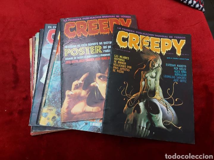 CREEPY 1°EPOCA NUMEROS:7,12,13,15,21,22,34,37,43 Y 44 ,EL COMIC DEL TERROR Y LO FANTASTICO/CORBEN (Tebeos y Comics - Toutain - Creepy)