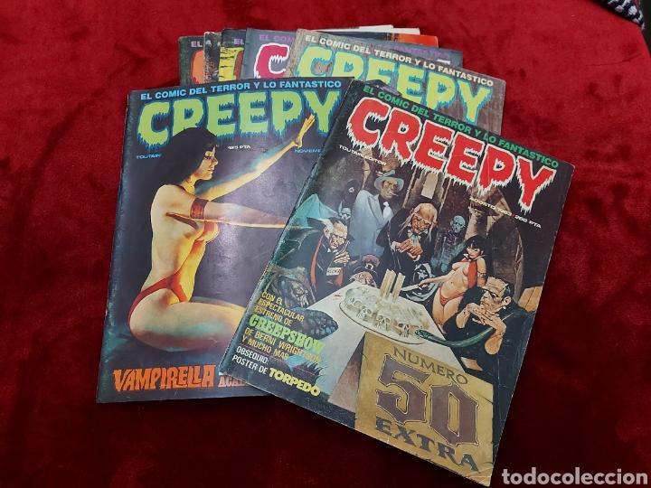 CREEPY 1°EPOCA NUMEROS:41,43,57,58,50,60 Y 69 ,EL COMIC DEL TERROR Y LO FANTASTICO/PANICO/MIEDO (Tebeos y Comics - Toutain - Creepy)