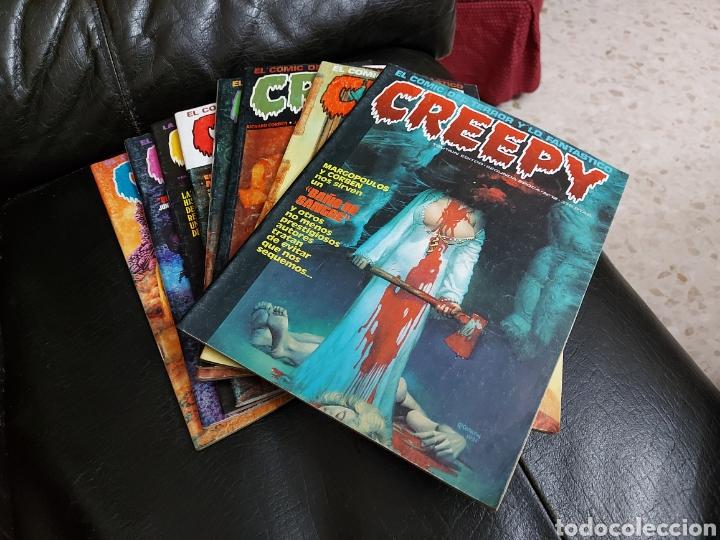 CREEPY SEGUNDA EPOCA NUMEROS 3,7,8,10,11,12,13 Y 19 ,EL COMIC DEL TERROR Y LO FANTASTICO/CORBEN (Tebeos y Comics - Toutain - Creepy)