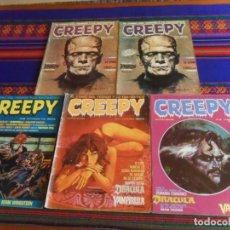 Cómics: CREEPY 1ª ÉPOCA 36 37 39 40 40 EDICIÓN LIMITADA PARA COLECCIONISTAS TARJETA VOTO 4ª ED PREMIOS 1984.. Lote 238581990