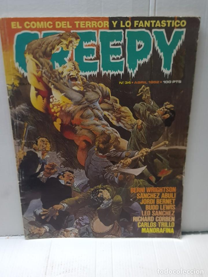 COMIC CREPY N°34 DE 1982 DE TOUTAIN EDITORIAL (Tebeos y Comics - Toutain - Creepy)