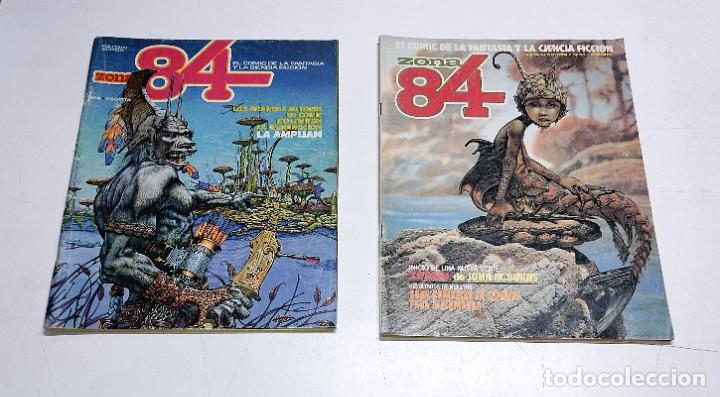 2 NUMEROS DE COMICS ZONA 84 AÑOS 80 (Tebeos y Comics - Toutain - Zona 84)