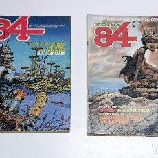 Fumetti: 2 NUMEROS DE COMICS ZONA 84 AÑOS 80. Lote 245051185