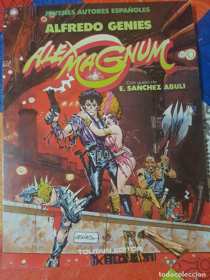 ÁLEX MÁGNUM POR ALFREDO GÉNIES Y E. SÁNCHEZ ABULÍ (TORPEDO 1936) ÁLBUM EN RÚSTICA TOUTAIN (Tebeos y Comics - Toutain - Otros)