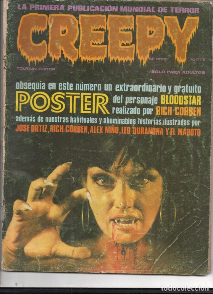 CREEPY Nº DOCE - EDITORIAL TOURTAIN (Tebeos y Comics - Toutain - Creepy)