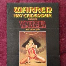 Cómics: WARREN 1977 CALENDAR VAMPIRELLA - ENRICH - CARTEL PUBLICITARIO 32 X 21. Lote 246933670