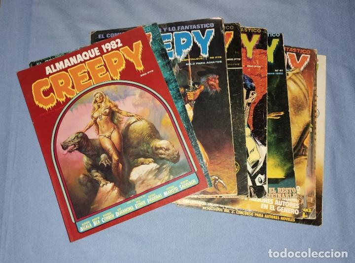 LOTE DE 9 NUMEROS DE COMICS CREEPY VER OTROS LOTES RELACIONADOS QUE TENEMOS EN SUBASTA (Tebeos y Comics - Toutain - Creepy)