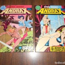 Fumetti: ANDRAX / OBRA COMPLETA EN 2 RETAPADOS / TOUTAIN EDITOR. Lote 251610685