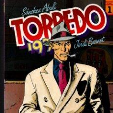 Cómics: TORPEDO 1936. TOMO Nº 1. SANCHEZ ABULI - JORDI BERNET. TOUTAIN EDITOR, 1990. Lote 252622535