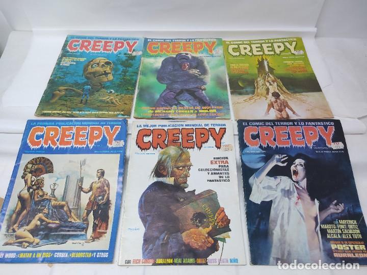 LOTE DE 6 TEBEOS CREEPY NUMEROS 0,10,14,17,21,24, (Tebeos y Comics - Toutain - Creepy)