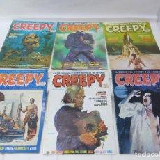 Cómics: LOTE DE 6 TEBEOS CREEPY NUMEROS 0,10,14,17,21,24,. Lote 254759645