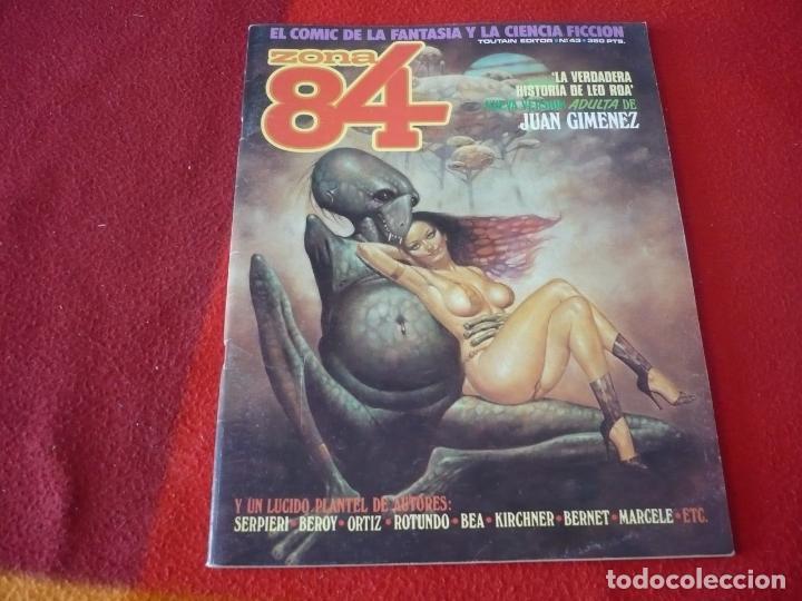 ZONA 84 Nº 43 ( JUAN GIMENEZ BEROY BEA ) TOUTAIN EL COMIC DE LA FANTASIA Y LA CIENCIA FICCION (Tebeos y Comics - Toutain - Zona 84)