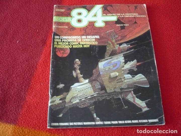 ZONA 84 Nº 1 ( CORBEN GIMENEZ DAS PASTORAS ) TOUTAIN EL COMIC DE LA FANTASIA Y LA CIENCIA FICCION (Tebeos y Comics - Toutain - Zona 84)