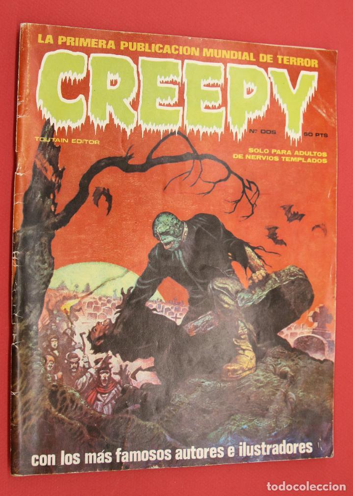 CREEPY-TOUTAIN- Nº 2 -LA PRIMERA PUBLICACIÓN MUNDIAL DE TERROR-1979 (Tebeos y Comics - Toutain - Creepy)
